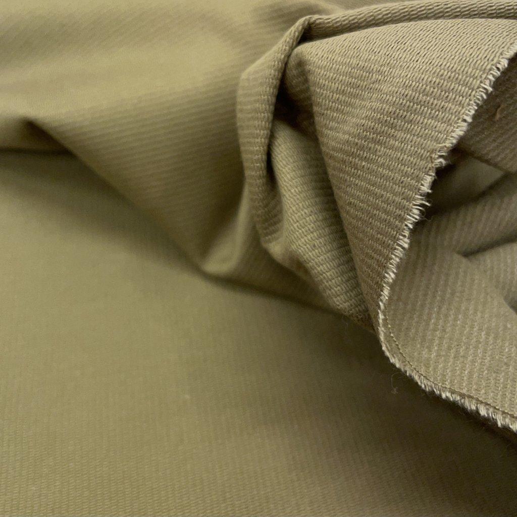 Pevný bavlněný ryps, světlá khaki