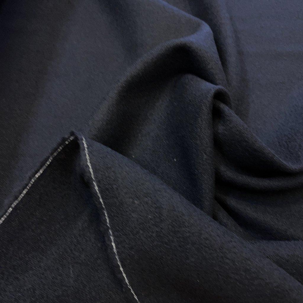 Černý měkoučký žoržet, vlna s elastanem