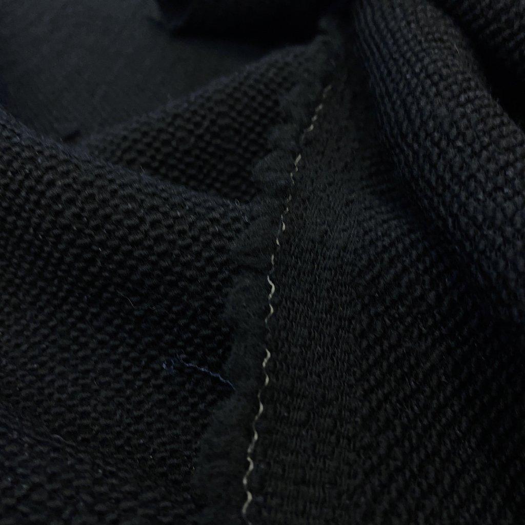 Černá vlna úpletový efekt, 2%elastan