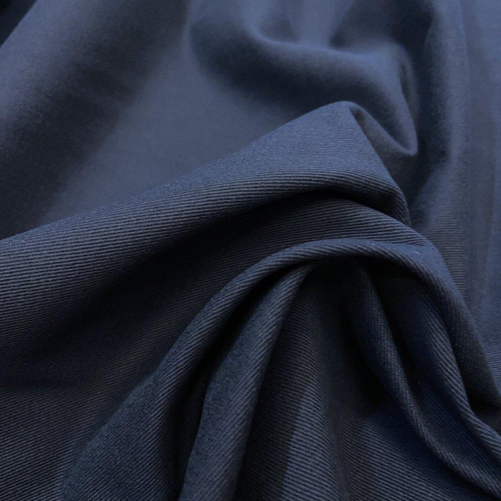 Pevný bavlněný kepr, tmavě modrá