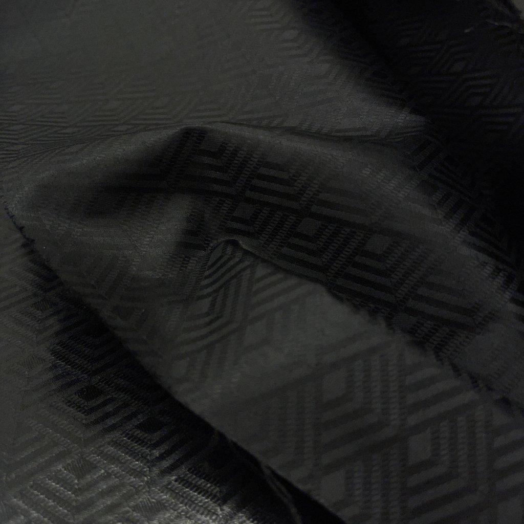 Černý damašek voňavý, bavlna, drobný vzorek 4