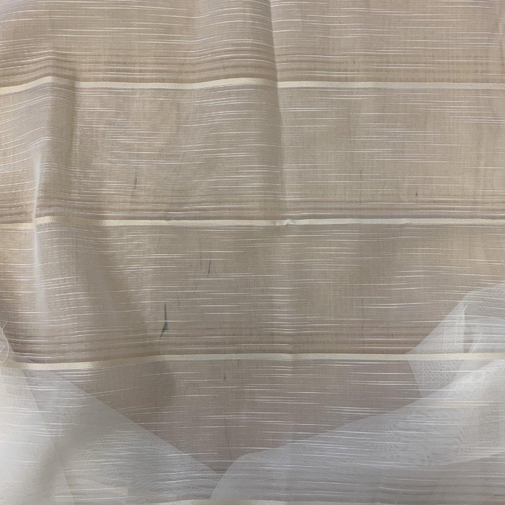 Záclonovina s lesklým proužkem