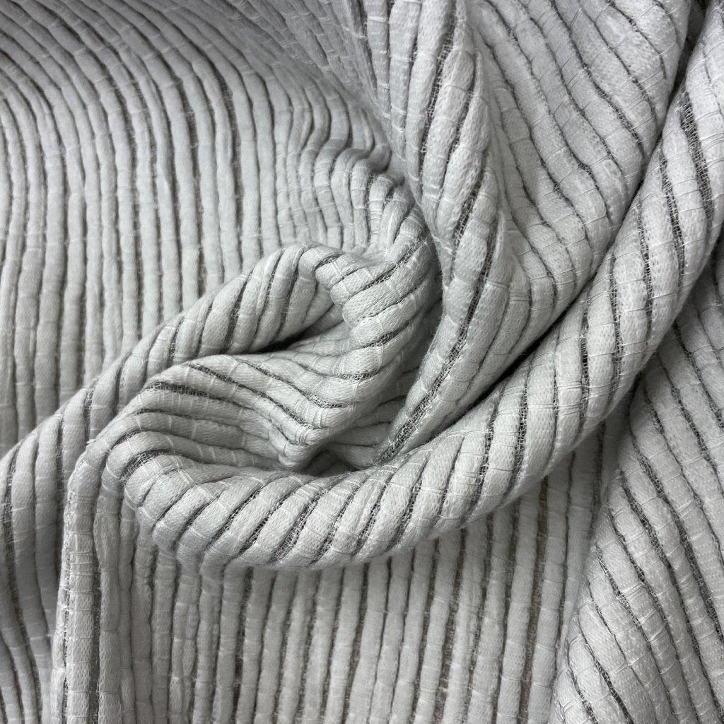 Len s bavlnou, tězký bytový závěs, pruhy