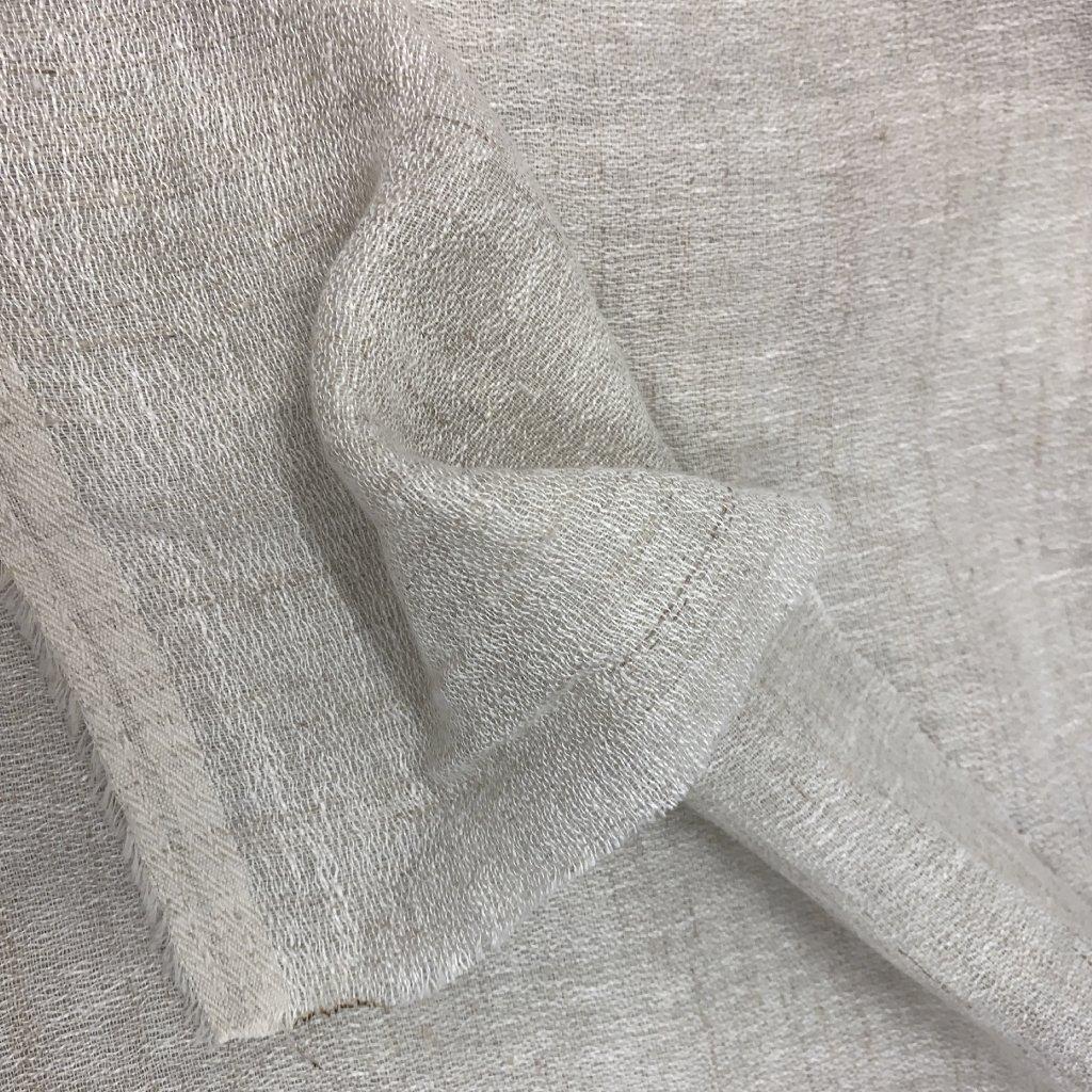 Směs bavlny a syntetických vláken, béžová, transparentní