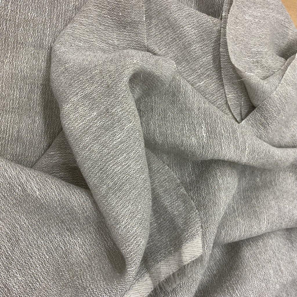 Směs bavlny a syntetických vláken, šedá, transparentní