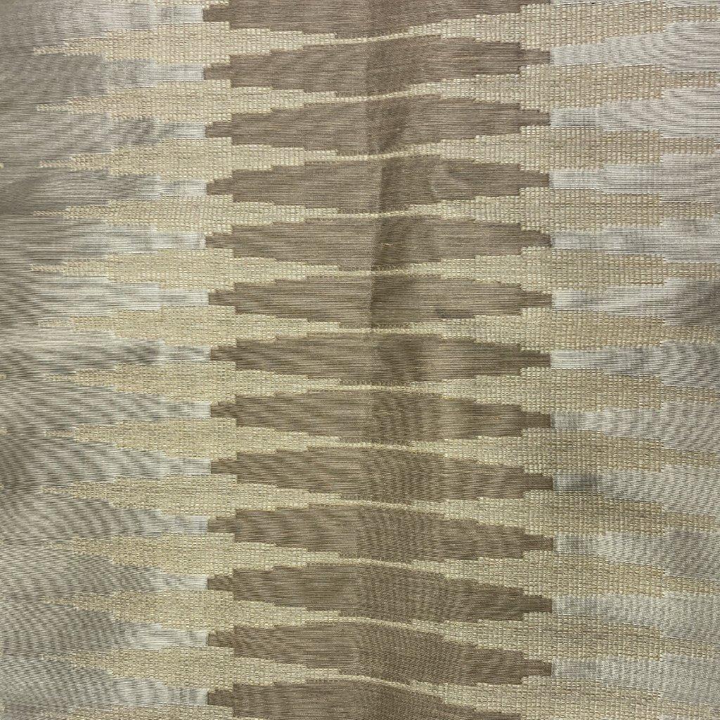Hnědé plátno se žakárovým vzorem 4, hedvábí/viskóza/syntetická vlákna