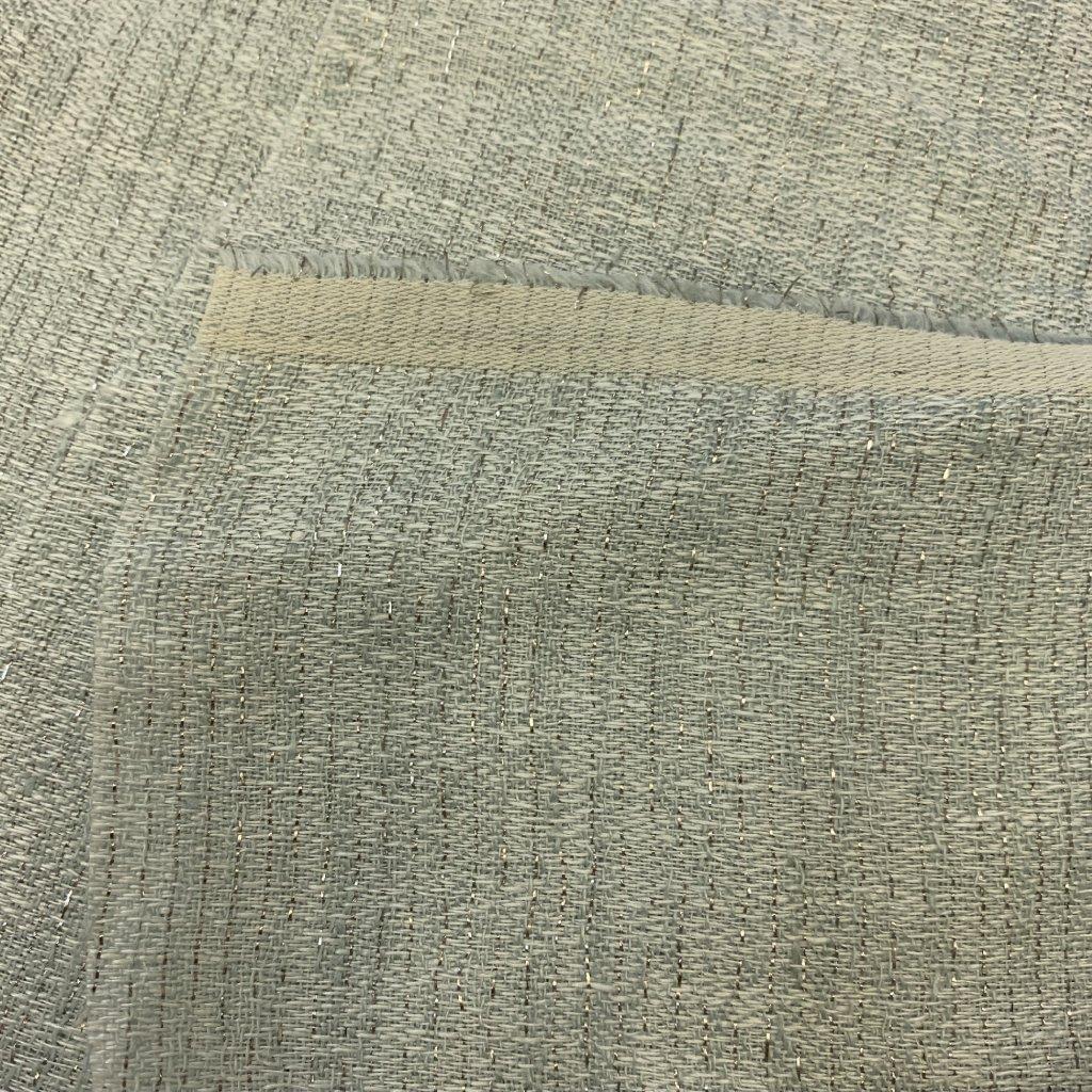 Měkké bavlna+len plátno se stříbrnou nití