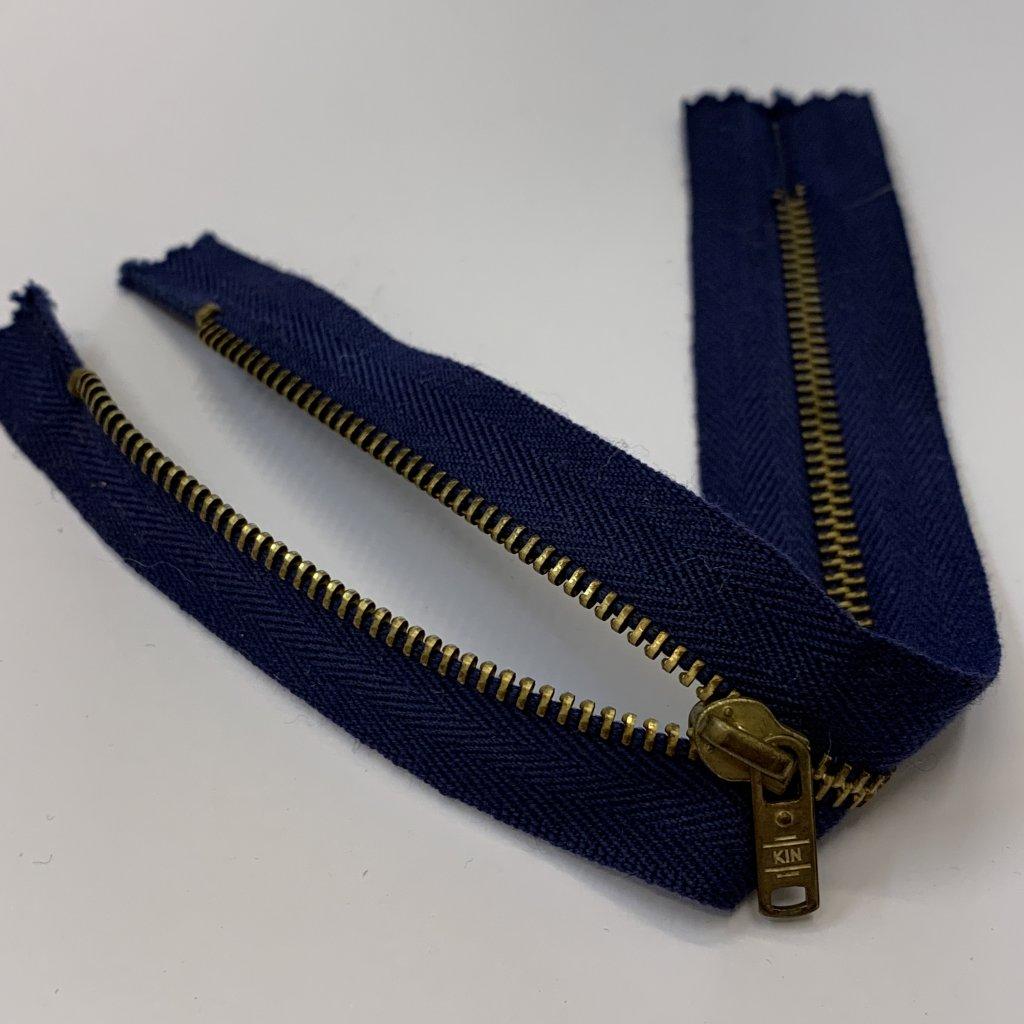 Zip modrý 20CM