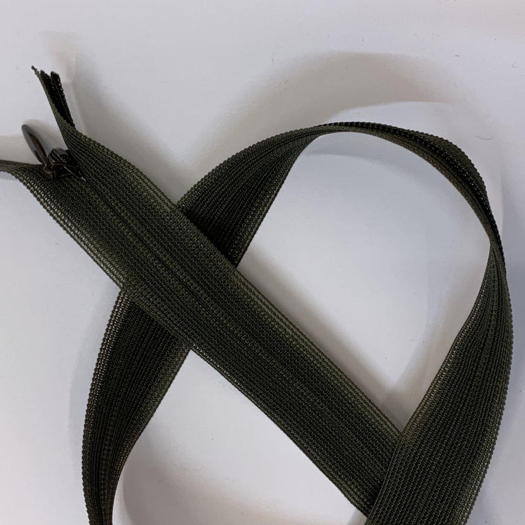 Skrytý zip YKK khaki 60CM