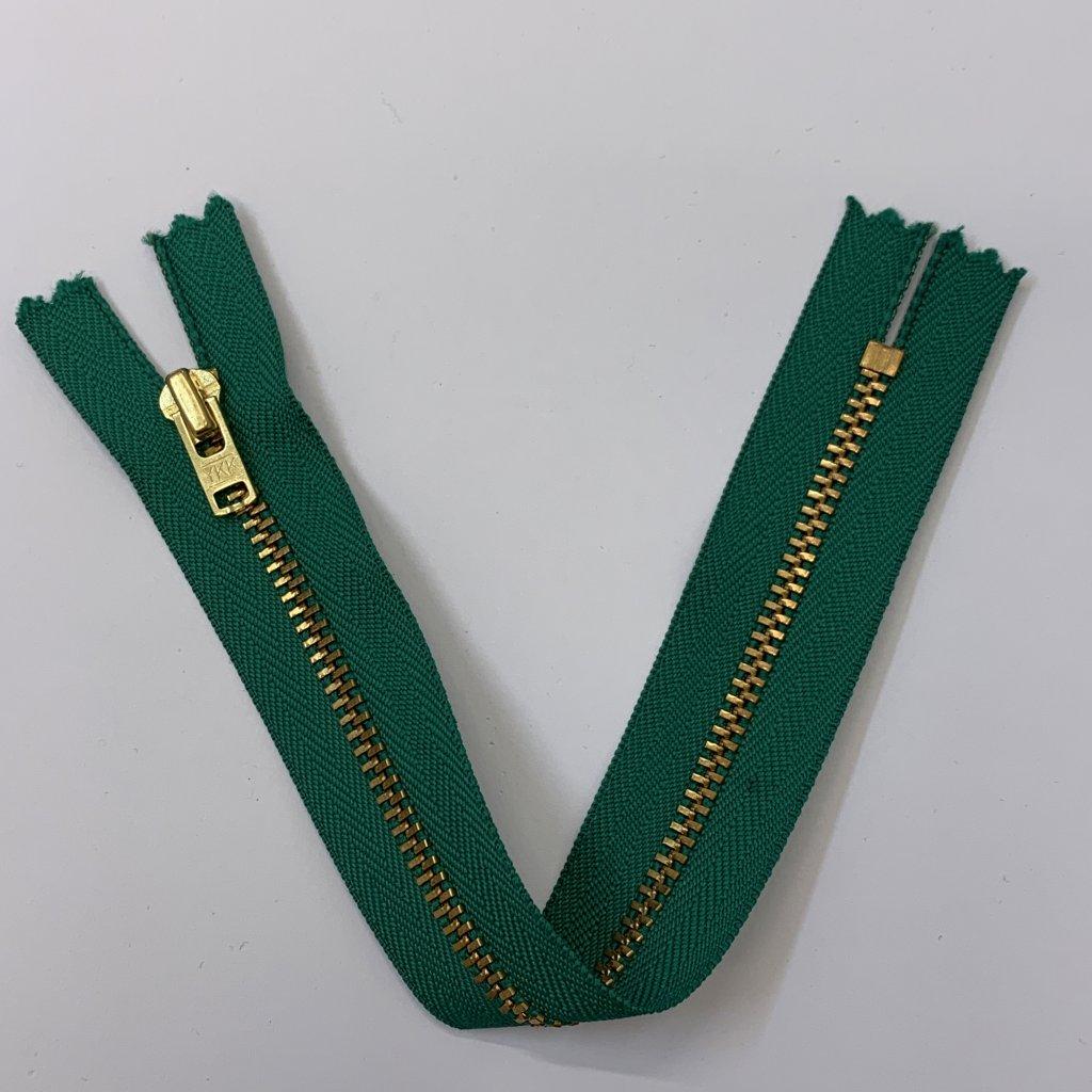 Zip YKK zelený 20CM