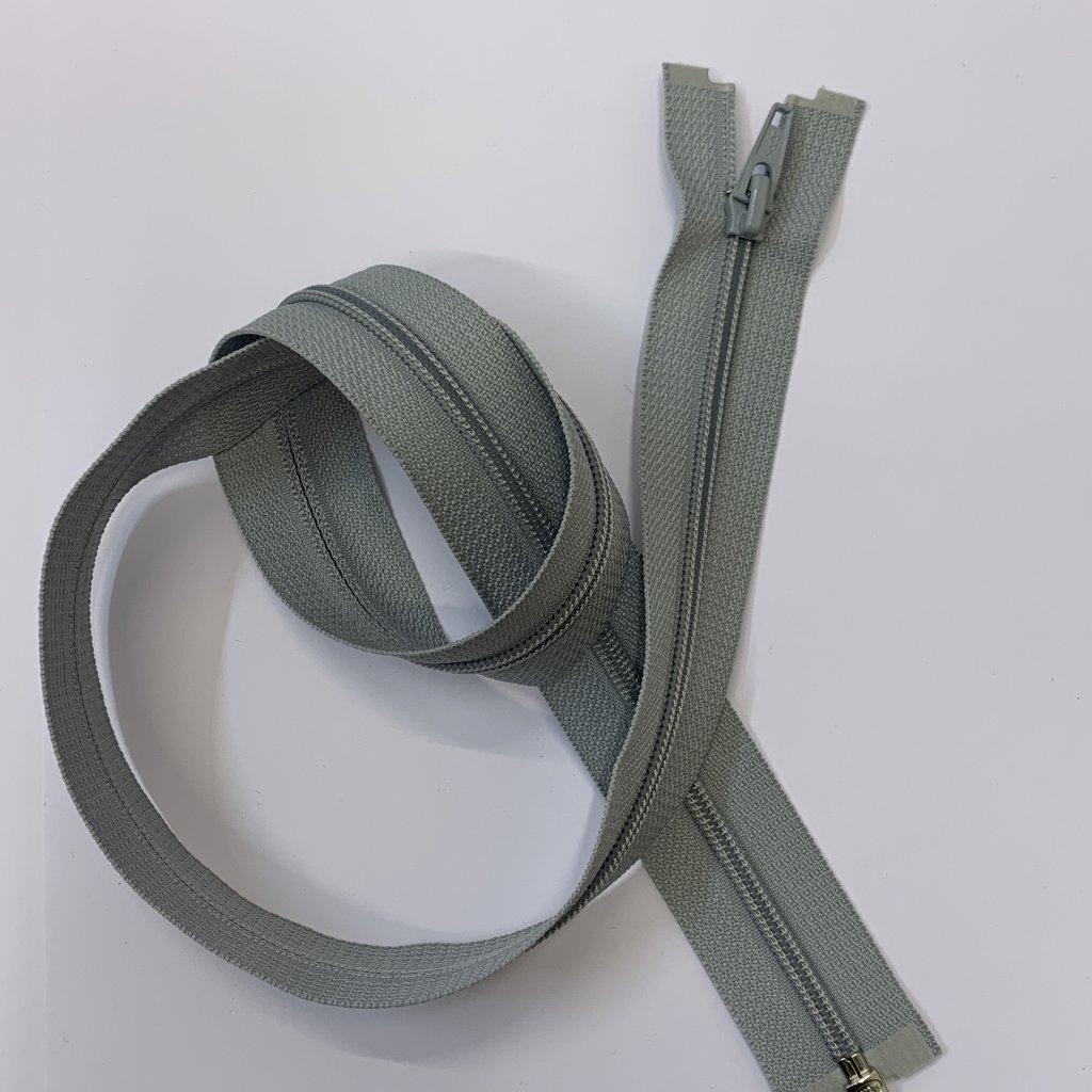 Rozevírací zip YKK šedý 73CM