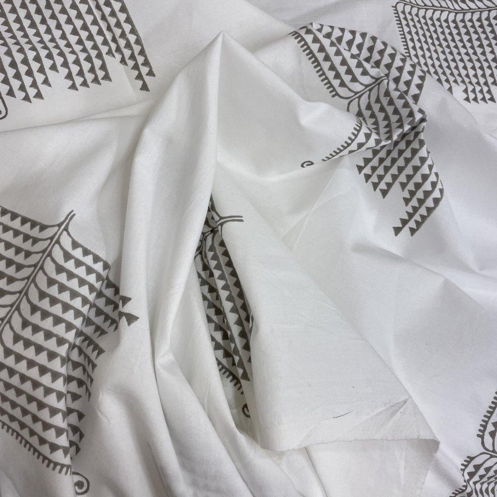 Jain&Kriz ručně tištěné bavlněné plátno The Tree