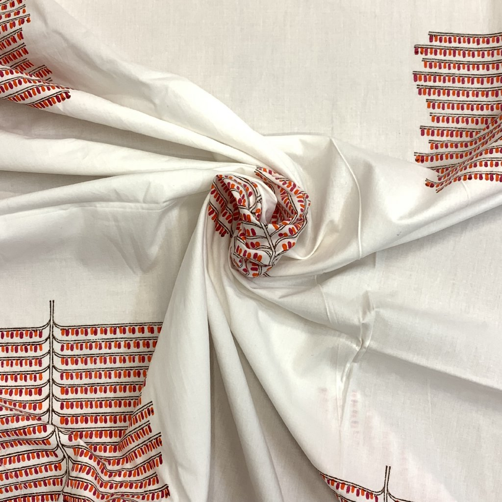 Jain&Kriz ručně tištěné bavlněné plátno The Tree, red