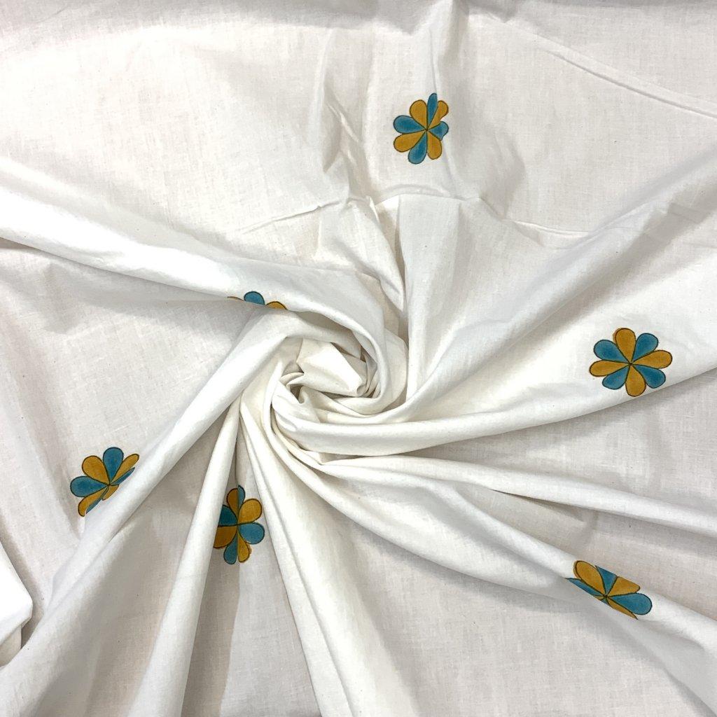 Jain&Kriz ručně tištěné bavlněné plátno Flowers Dots