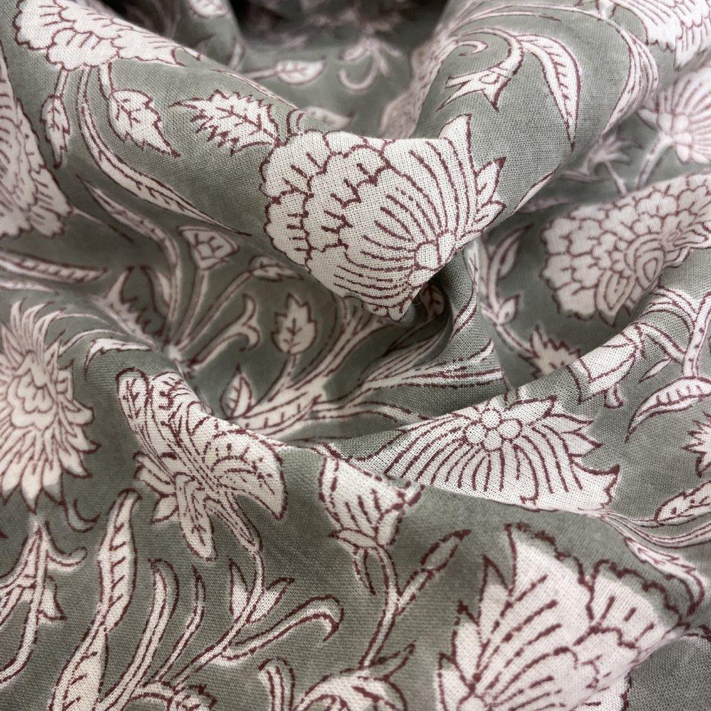 Jain&Kriz ručně tištěné bavlněné plátno Poppies