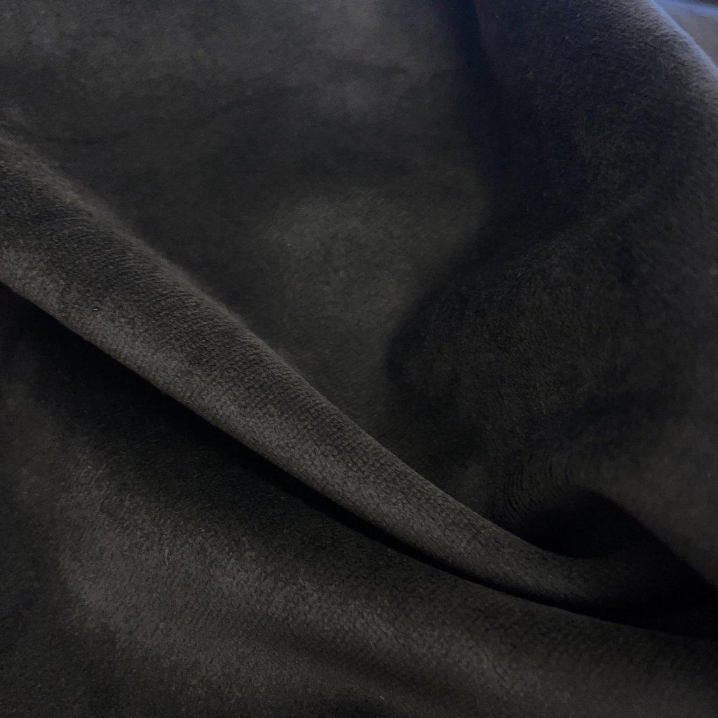 Tmavě šedý/uhlový mikro samet, úplet nepružný