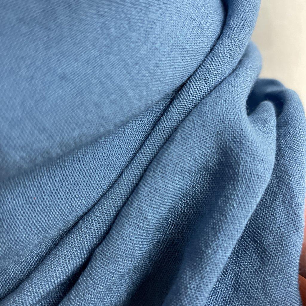 Nebesky modrý mušelín/ gázovina, viskóza, 100g/m2