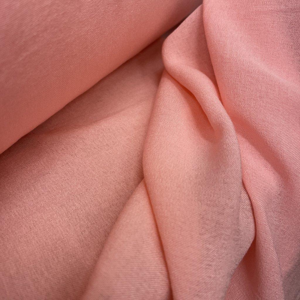 Růžový mušelín/ gázovina, bavlna, 74 g/m2