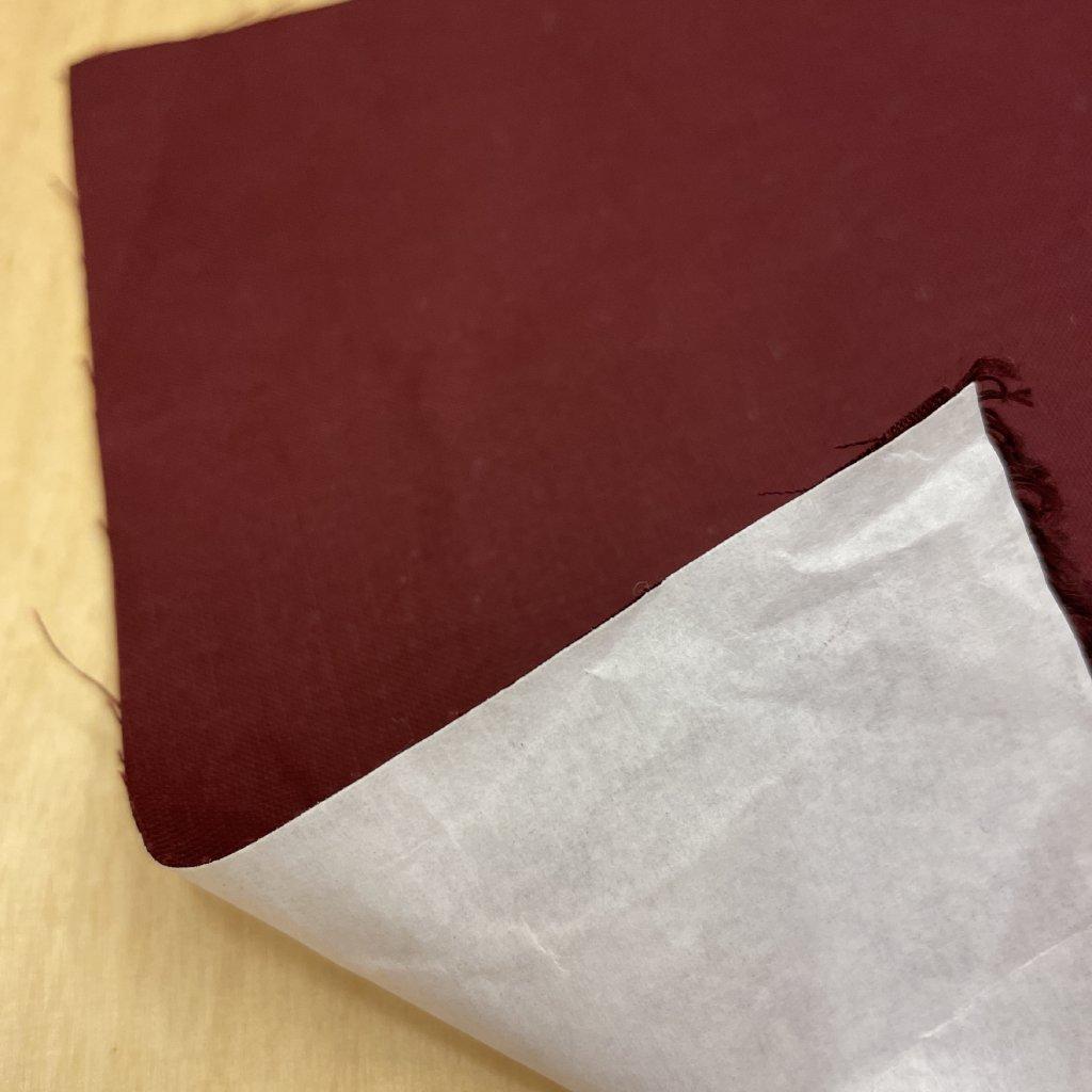 Vínové knihařské plátno, bavlna+papírový podlep