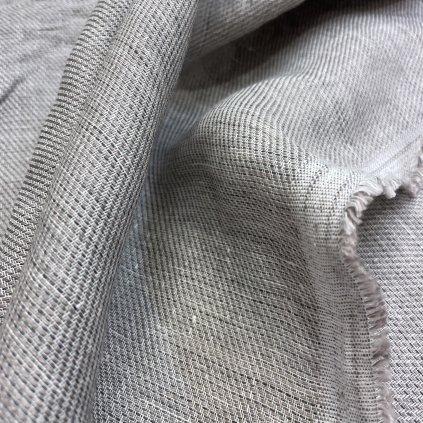 Lehký polyester s příměsí vlny, šedá