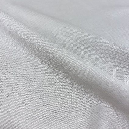 Bílý tričkový úplet, sleva, tunel
