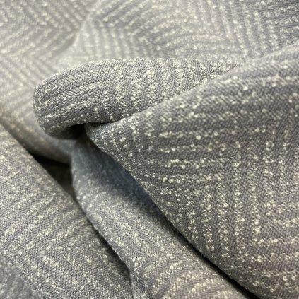 Šedá rybí kost viskóza/polyester