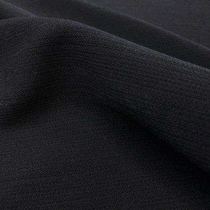 Černá kostýmovka polyester, nenápadný proužek