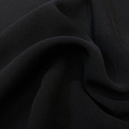 Splývavý oblekový polyester, černý kepr