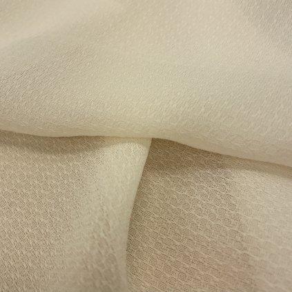 Lehoučký polotransparentní polyester se vzorkem, krémový