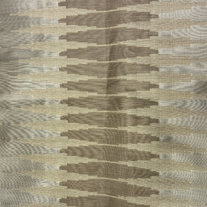 Hnědé plátno se žakárovým vzorem 3, hedvábí/viskóza/syntetická vlákna