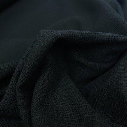 Černý tričkový bavlněný úplet