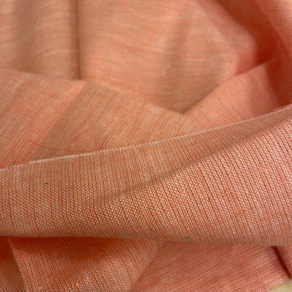 Jain&Kriz len/bavlna, ručně tkané, Peach