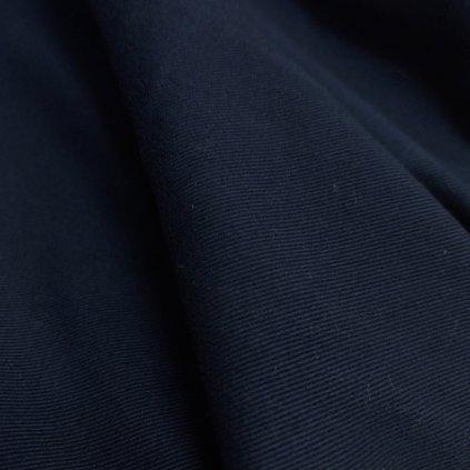 Navy gabardén, lehce pružný, broušený