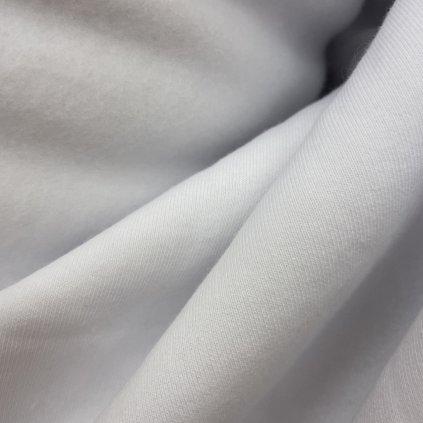 Bílý výplněk/teplákový úplet, počes