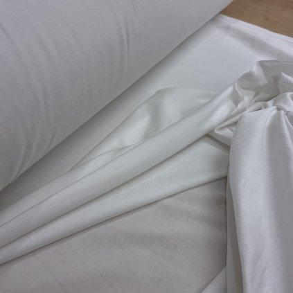 Tričkový bílý s lycrou, lehoučký