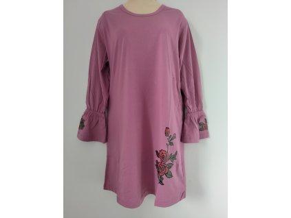 S2520 Coandin dámská noční košile dlouhý rukáv - starorůžová
