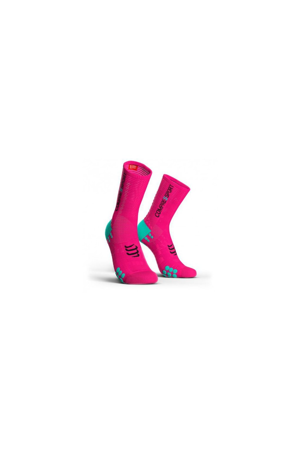 compressport prs v30 bike fluo pink t1