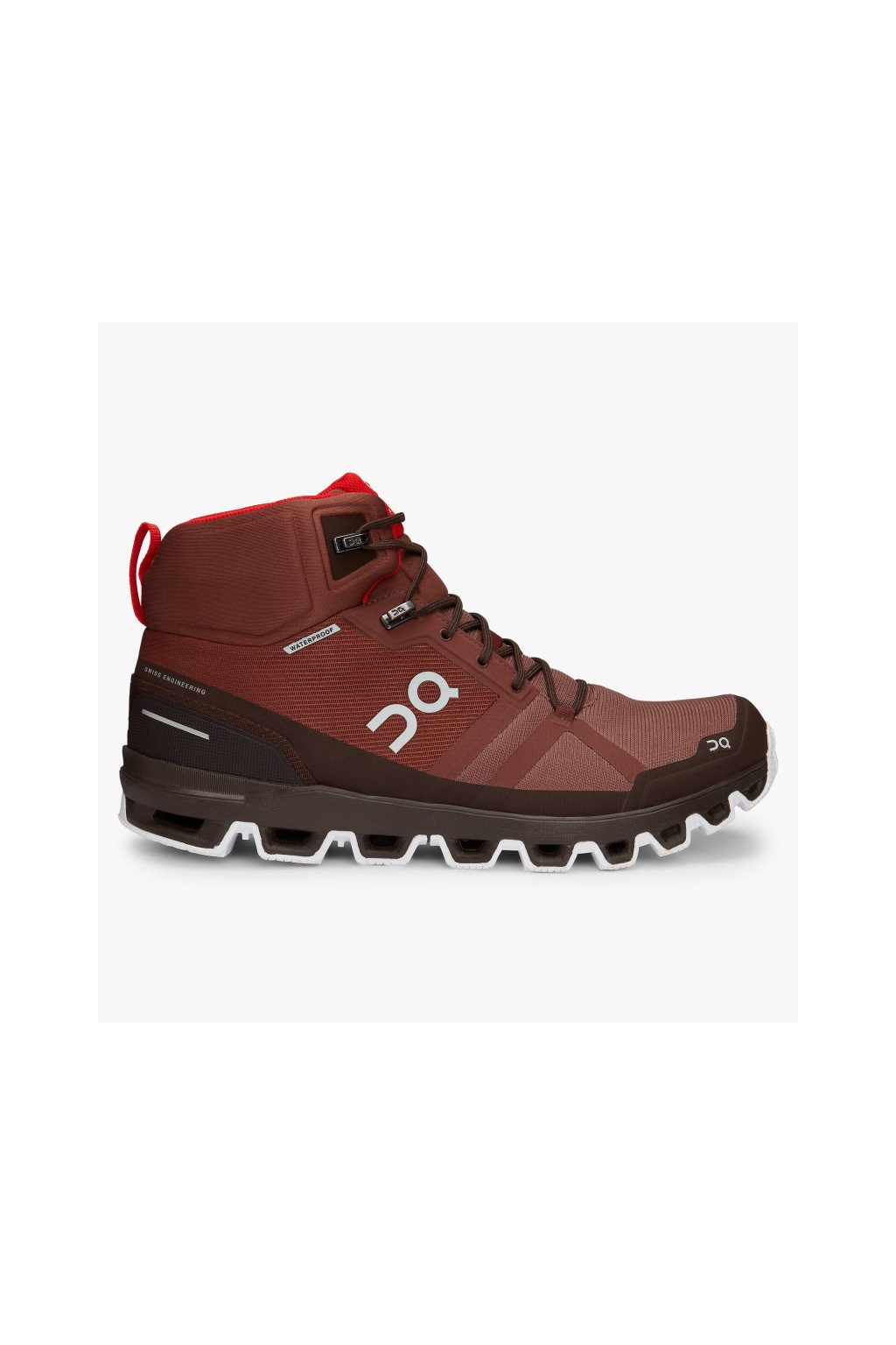 ON CLOUDROCK WATERPROOF COCOA/RED  M