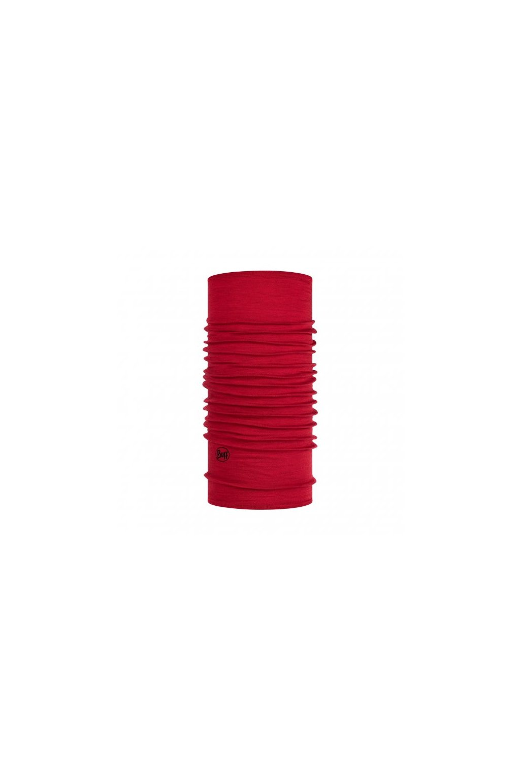 midweight merino wool tubular buff solid red 1130234251000