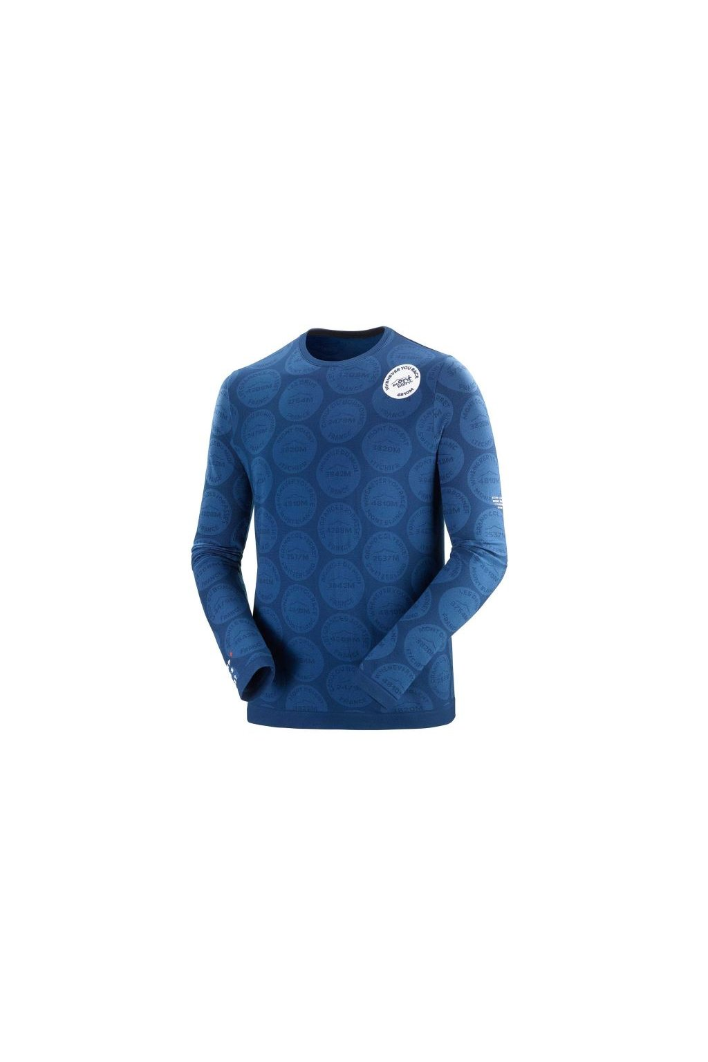 training tshirt ls badges mont blanc 2020 blue l (1)