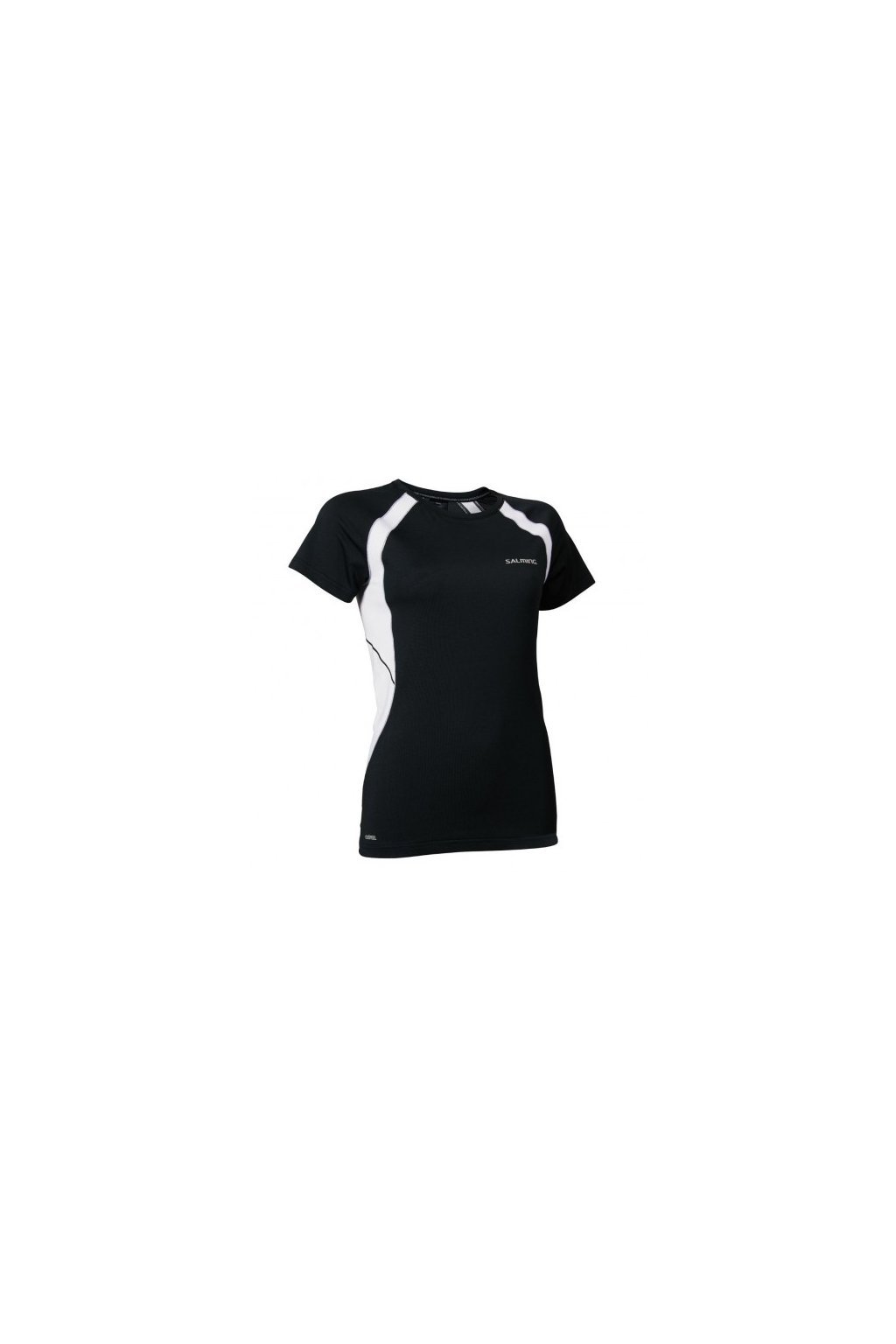 salming nova tee women black white l
