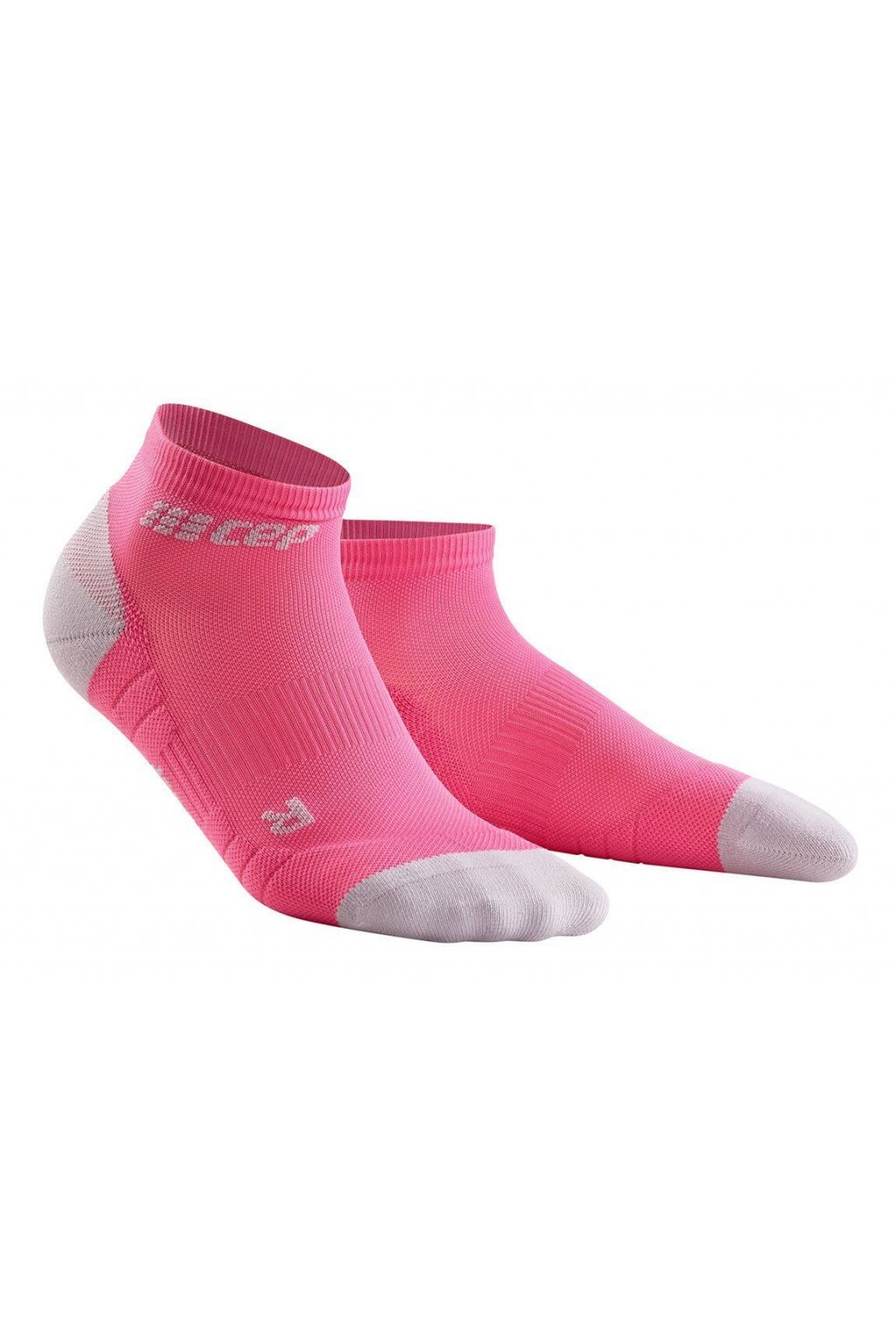 1280x1280 Compression Low Cut Socks 3.0 rose light grey WP4AGX w pair front