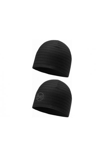 BUFF ČEPICE  MICROFIBER REVERSIBLE HAT  BLACK
