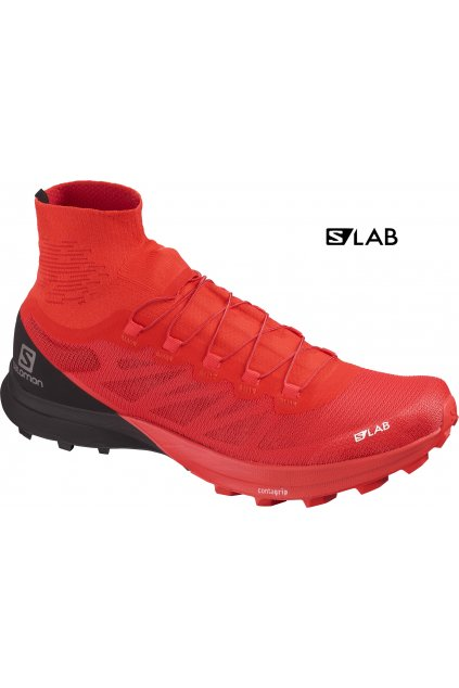 SALOMON Obuv S/LAB SENSE 8 SG Racing Red/Bk/Wh