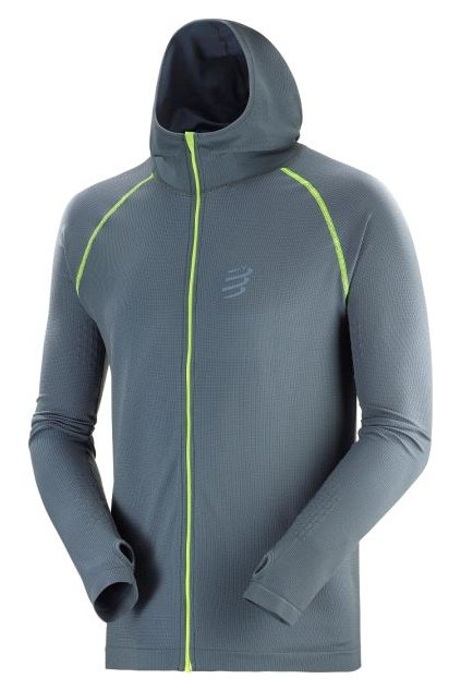 3d thermo seamless hoodie born to swimbikerun 2020 grey l
