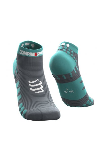 Compressport Pro Racing V3 0 Run Low Cut Socken nile blue[640x480]