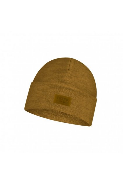 merino wool fleece hat buff ochre 1241161051000