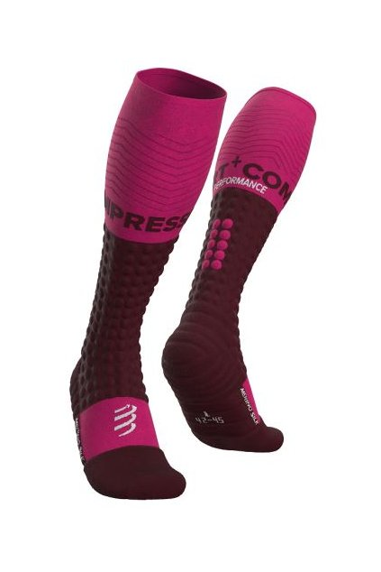 alpine ski merino full socks cherry t1