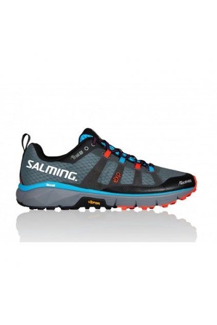 salming trail 5 shoe men grey black 9 uk
