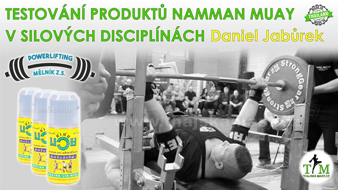 Testování produktů Namman Muay v silových disciplínách